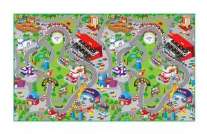 Fashblush Non-woven Free Play Mat Race Track(multicolor, 1 Mat)