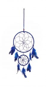Fashblush Wool Windchime (19 Inch, Blue, White)