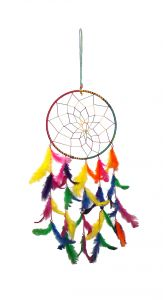 Fashblush Mystical Feathers Dream Catchers Wool Windchime (26 Inch, Multicolor)(product Code - Fb64058)
