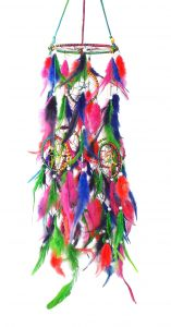 Fashblush Handmade Big Chandelier Jhoomer Multicolor Mystical Feathers Dream Catchers