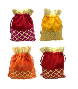 Women's Accessories - FashBlush Shagun Gift Pouch Potlis (Set Of 4)Multicolor(Product Code - FB68004)