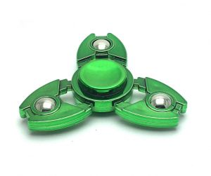 Fashblush Green Crab Legs And Steel Balls With Glossy Finish Fidget Hand Spinner