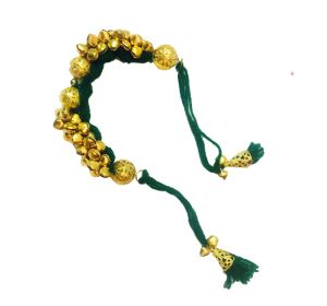 Fash Blush Dark Green Ghungroo Traditional Alloy Bracelet - (code - Fb33016)