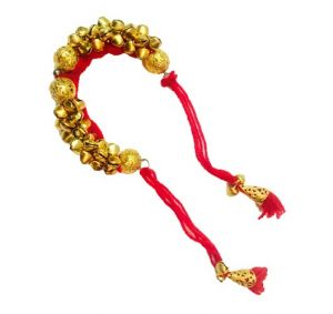 Fash Blush Maroon Ghungroo Traditional Alloy Bracelet - (code - Fb33017)