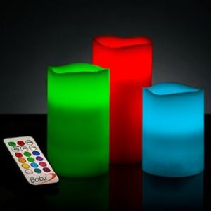 Candles - 3 Pc LED Candle Stand with Remote