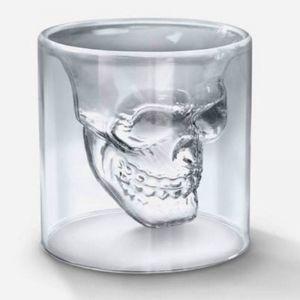 Flintstop Skull Shot Glass