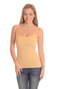 Comfty Stretchable Camisole Tank Tops - Skin