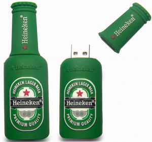 Bottle Heineken Shape Fancy Pen Drive 16GB