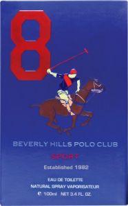 Beverly Hills Perfumes (Men's) - Beverly Hills Polo Club Sport No 8 Eau de Toilette - 100 ml(For Men)