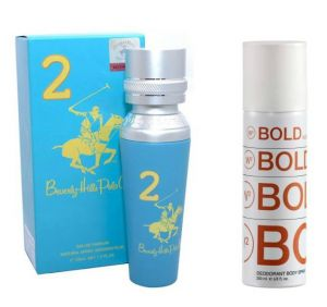 Perfume Gift Sets - Beverly Hills Polo Club No 2 Perfume EDP   W2 Bold Noise Deodorant