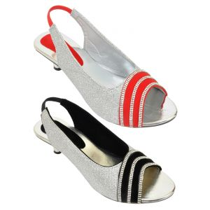 Combo Pack Of Two Multi-color Stylish Heel For Women (code - 1522_2_1309_bal_red)