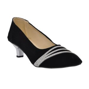 Altek Stony Smooth Black Bellies For Womens (product Code - Foot_s1308_black)