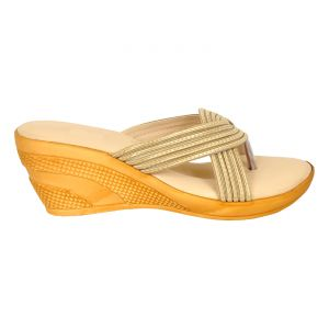Wedges - Altek Smooth Comfy Cream Wedges for Women (Code foot_1323_cream_p210)