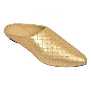 Altel Casual Stylish Golden Slip On (product Code - Foot_1339_golden)