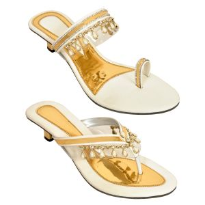 Altek Combo Of Two Stylish Multi-color Heel Sandal For Women (code - Foot_1547_2_1349_1351_wht_p400)