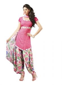 Sinina Multi Color Un Stitched Crepe Printed Dress Material (code - 10vc1460)