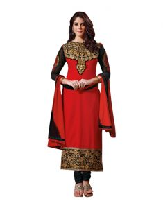 Sinina Georgette Red Color Dress Material-red114tangy2403