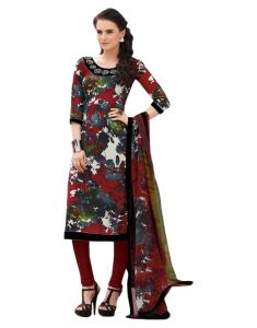 Kiara,Port,Surat Tex,Estoss,Valentine,Diya,Sinina Women's Clothing - Sinina Multi color Un stitched pure crepe dress material (Code - 123Tangy6403B)