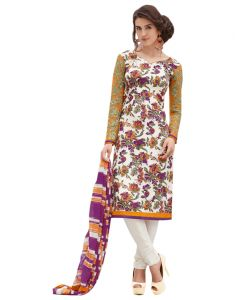 Sinina Multi Color Un Stitched Pure Crepe Dress Material (code - 123tangy6413a)