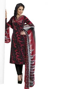 Sinina Multi Color Un Stitched Pure Crepe Dress Material (code - 123tangy6415b)