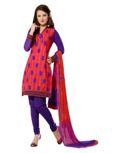 Sinina Designer Embroidered Cotton Unstitched Dress Material - 24lwb279