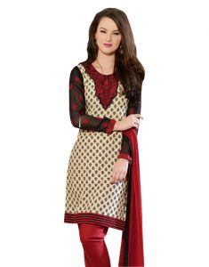Sinina Designer Embroidered Cotton Unstitched Dress Material - 24lwb280