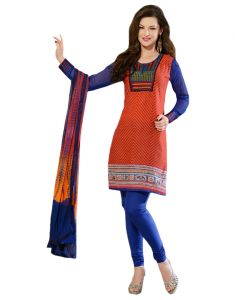 Sinina Designer Embroidered Cotton Unstitched Dress Material - 24lwb284