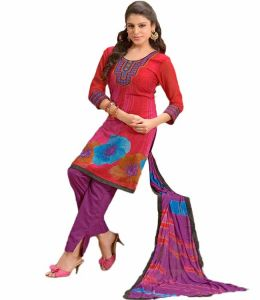 Rcpc,Jpearls,Surat Diamonds,Gili,Sinina Women's Clothing - Sinina multi color Un stitched cotton embroidered dress material (Code - 25LWB298)