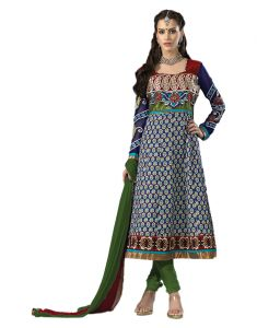 Sinina Designer Embroidered Chanderi Cotton Unstitched Patiala Dress Material - 3kesare101