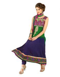 Sinina Anarkali Suits (Unstitched) - Sinina Womens Georgette Embroidered Semi Stitched Anarkali Salwar Kameez Divine1005