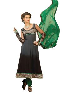"Sinina Anarkali Suits (Unstitched) - Sinina Women""s Georgette Embroidered Semi Stitched Anarkali Salwar Kameez Divine1008"