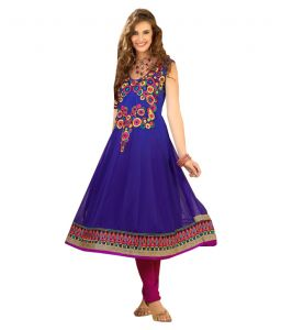 Sinina Womens Georgette Embroidered Semi Stitched Anarkali Salwar Kameez Divine1011