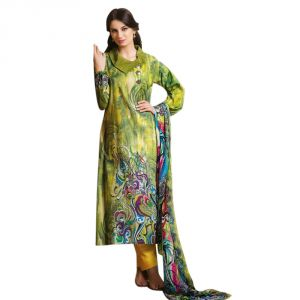 Sinina Crepe Green Color Unstitched Dress Material-redfcresham6452b