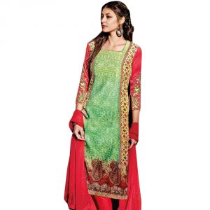 Sinina Multi Color Unstitched Cotton Embroidered Dress Material (code - Fcsenti9115)