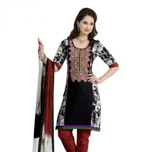Jagdamba,Clovia,Mahi,Flora,Avsar,Sinina Women's Clothing - Sinina multi color Un stitched cotton embroidered dress material (Code - LWB322)