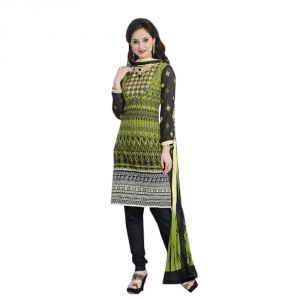 Hoop,Arpera,Tng,Sangini,Parineeta,Sinina Women's Clothing - Sinina multi color Un stitched cotton embroidered dress material (Code - LWB324)