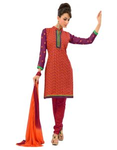 Jagdamba,Avsar,Kiara,Estoss,Sinina Women's Clothing - Sinina multi color Un stitched cotton embroidered dress material (Code - LWBless08)