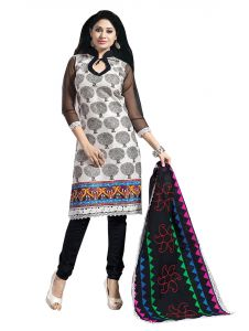 Vipul,Port,Tng,Sangini,Jpearls,Sinina,Kiara,Azzra Women's Clothing - Sinina multi color Unstitched cotton embroidered dress material (Code - RH20PK05)