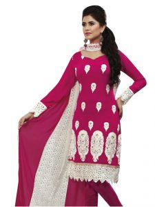 Sinina Embroidered Georgette Salwar Kameez Suit Semi Stitched Dress Material Serena25004-b