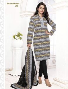 Sinina Multi Color Un Stitched Pure Cotton Printed Dress Material (code - Sgp305)