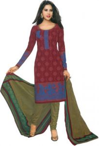 Sinina Womens Cotton Printed Straight Salwar Kameez Unstitched Dress Material Sgp221