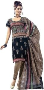 Sinina Womens Cotton Printed Straight Salwar Kameez Unstitched Dress Material Sgp619
