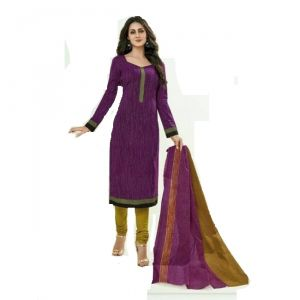 Sinina Purple Color Un Stitched Cotton Printed Dress Material (code - Sgp810)