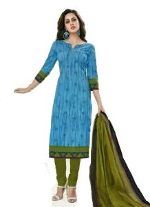 Sinina Blue Color Un Stitched Cotton Printed Dress Material (code - Sgp818)