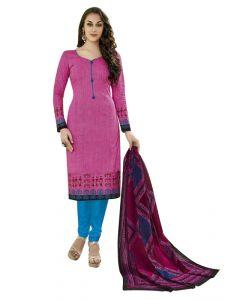 Sinina Women's Clothing - Sinina Pink Women Printed Cotton Dress Material-SGP840