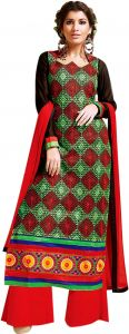 Sinina Multi Color Unstitched Cotton Embroidered Dress Material (code - Skmannat634)