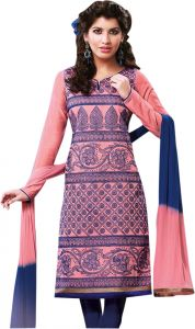 Sinina Designer Embroidered Pure Chanderi Cotton Unstitched Designer Salwar Kameez Suit - Sksajda656