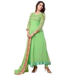 Sinina Anarkali Suits (Unstitched) - Sinina Georgette Salwar Kameez Suit Semi Stitched Dress Material-Status9232