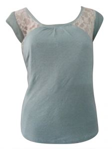 Sinina Green Casual Printed Cotton Top-t05
