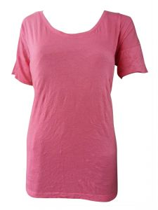 Sinina Pink Casual Printed Cotton Top-t18